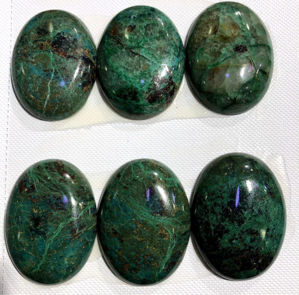 100% Natural Chrysocolla Gem stone Cabochon 30x40mm Oval CAB Ring Face Pendant,4piece/pack