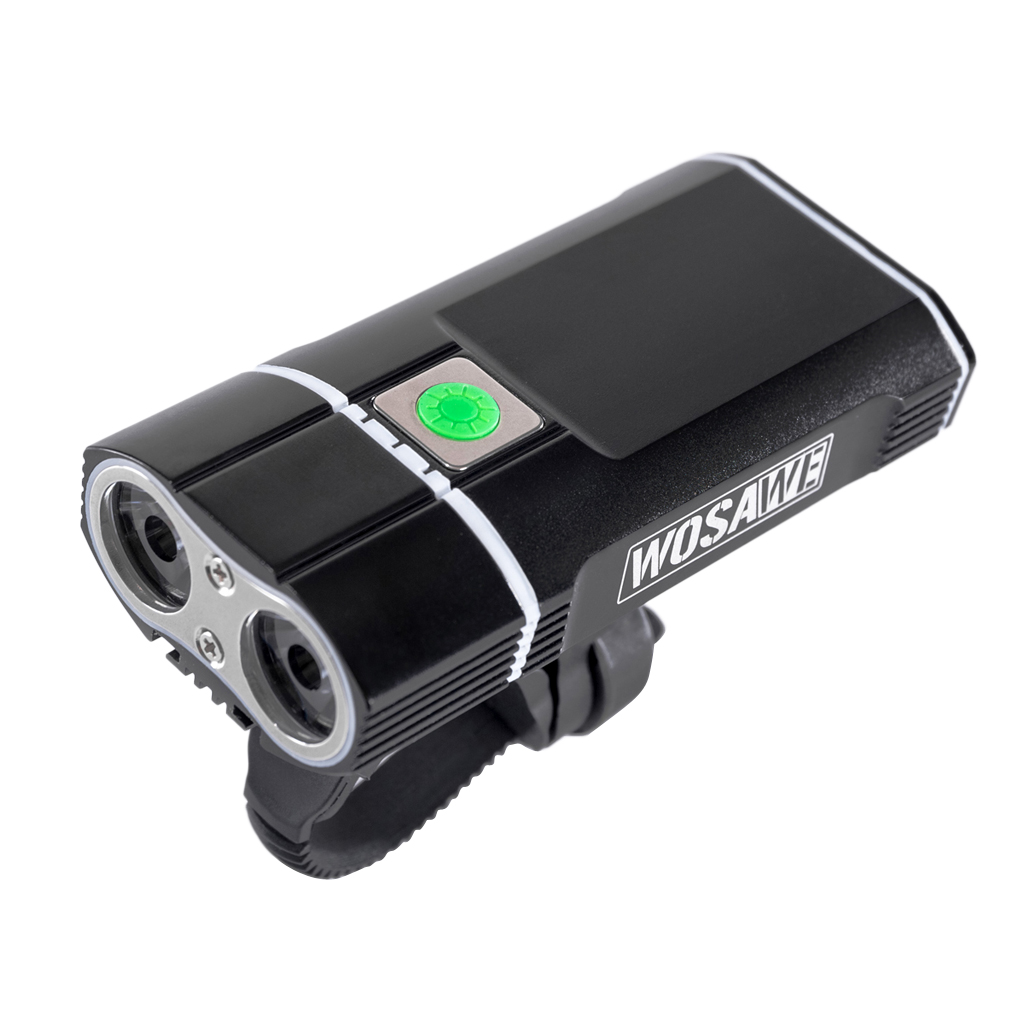 Bicycle Ligh USB Rechargeable LED Lamp Flashlight USB Rechargeable Bicycle Accessories for Nght Riding Black