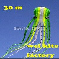 Бесплатная доставка, Высокое качество 30 М осьминог воздушных змеев простое управление летать выше с ручкой линии Лидер продаж на открытом в