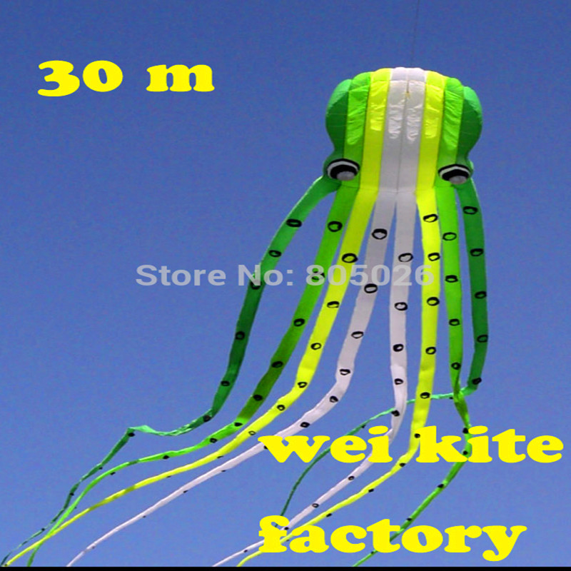 free shipping high quality 30m octopus kites easy control flying higher with handle line hot sell outdoor toys wei kites factory