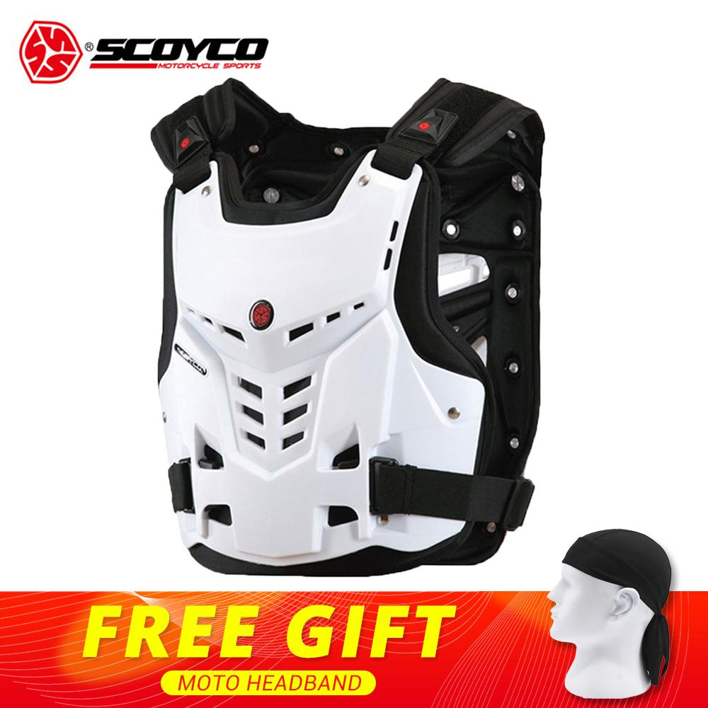 SCOYCO Motorcycle Armor Vest Motorcycle Protection Motorbike Chest Back Protector Armor Motocross Racing Vest Protective Gear scoyco am05 racing motorcycle body armor protector black size l