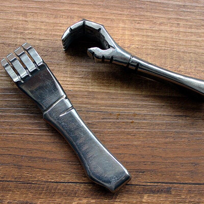 Haute qualité fait à la main 304 en acier inoxydable petite main style tire-bouchon porte-clés porte-clés pendentif EDC outils