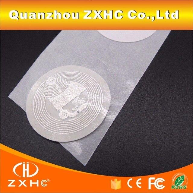 (10 adet/grup) 25mm Ntag213 Beyaz NFC Çıkartmalar Etiket Protokolü ISO14443A Samsung Galaxy/Sony ve Tüm NFC Telefonları