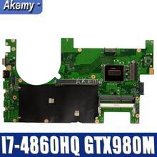G750JYA Материнская плата ноутбука I7-4860HQ Процессор Поддержка GTX980M 8 Гб Материнская плата Asus G750J G750JY G750JYA 90NB07J0-R00020 Тесты