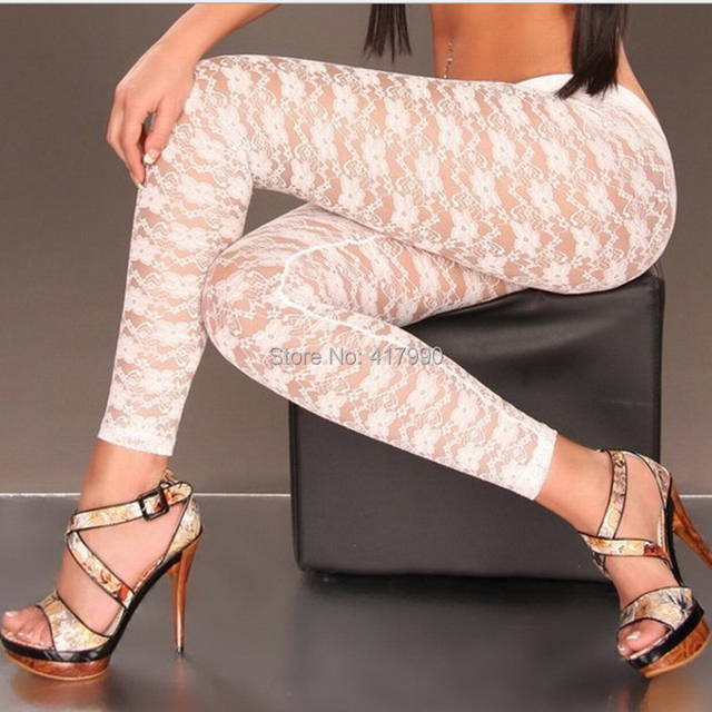 New High Quality New Womens Sexy Lace Leggings Pants Trousers ...