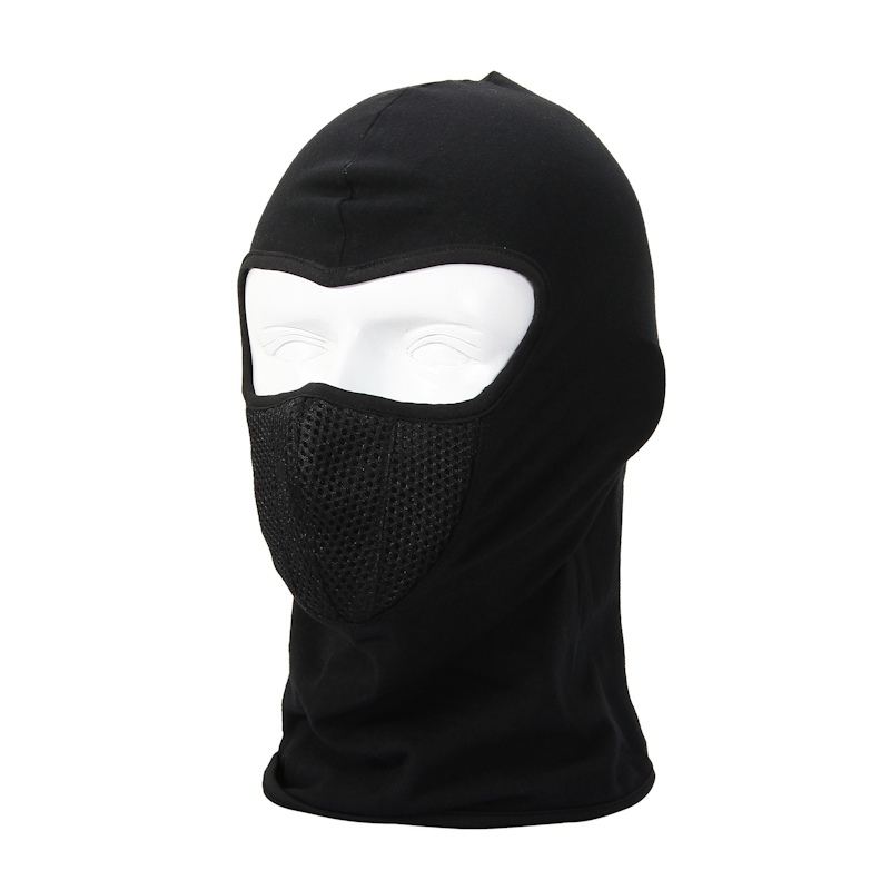 Black Balaclava Breathable Outdoor Riding Ski Masks Hiking Tactical Head Cover Motorcycle Cycling Protect Full face