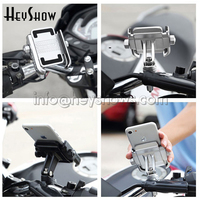 Universal Aluminum Alloy Motorcycle/Bicycle Handlebar Holder For 4 6 inch Phone Support GPS Bike Celular Moto Holder With Stand
