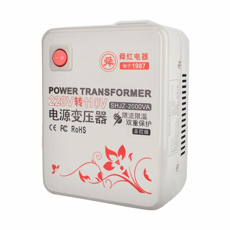 Transformer 220v turn 110v US voltage converter 2000w Japan ...