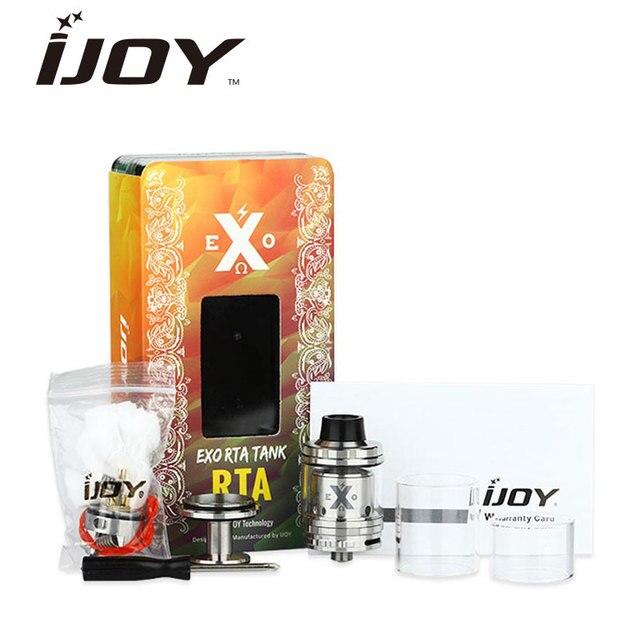 100% оригинал ijoy rta бак 2 мл топ заполнить exo экзо RTA Распылитель продлить 6 мл электронной сок емкость Сменной T1S T2S палубе испаритель