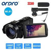 ORDRO HDV Z20 Цифровая видеокамера камкордер 1080P Full HD 24MP 16X зум 3,0 ЖК дисплей экран Бесплатная доставка