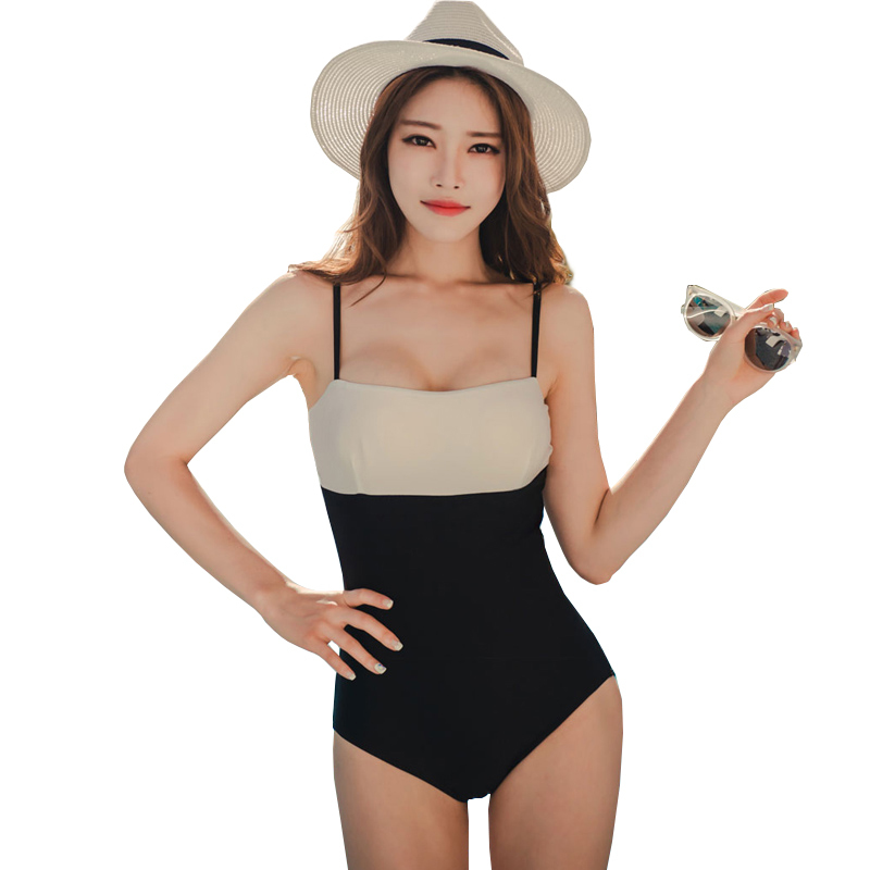 2018 Trending Summer Swimwear One Piece Slimming Monokini Patchwork Sexy Swim Suit Woman Push Up Swimsuit Maillot De Bain Women one piece swimsuits trikinis high cut thong swimsuit sexy strappy monokini swim suits high quality denim women s sports swimwear