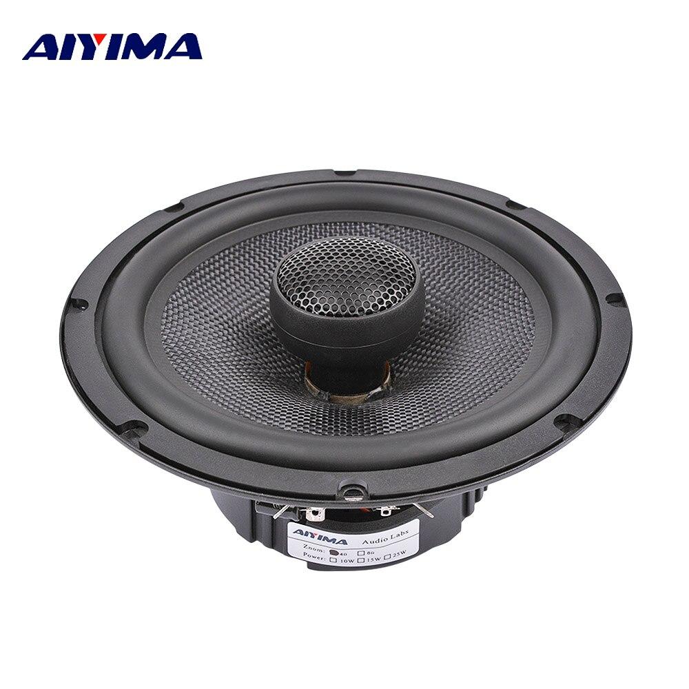 AIYIMA 1 Pc 6.5 pouces voiture haut-parleurs Audio coaxiaux de musique 25 Core Film de soie aigus 4 ohms 60 W Fiber de verre Tweeter haut-parleur de graves