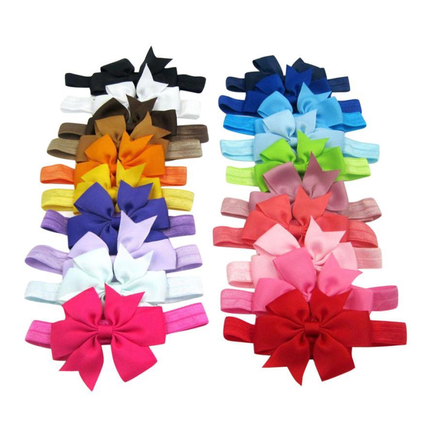 TELOTUNY 2018 20PC Newborn Toddler Baby Girl Headband Hairband Elastic Bowknot Photography For Baby Girls Headwear FEB5