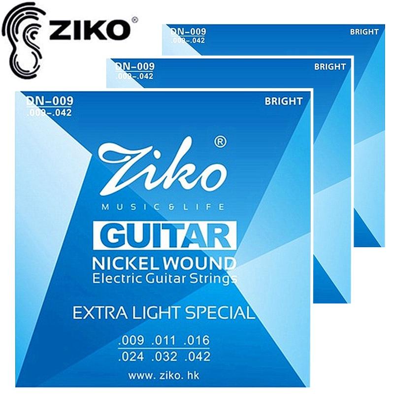ZIKO DN - 009 일렉트릭 기타 현 .009 - .042 현 기타 관현악 악기 액세서리 셋트 / 로트