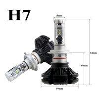 2pcs H7 Headlight Kits X3 Auto Car Headlight 50W 6000LM IP67 Automobile Bulb All In One