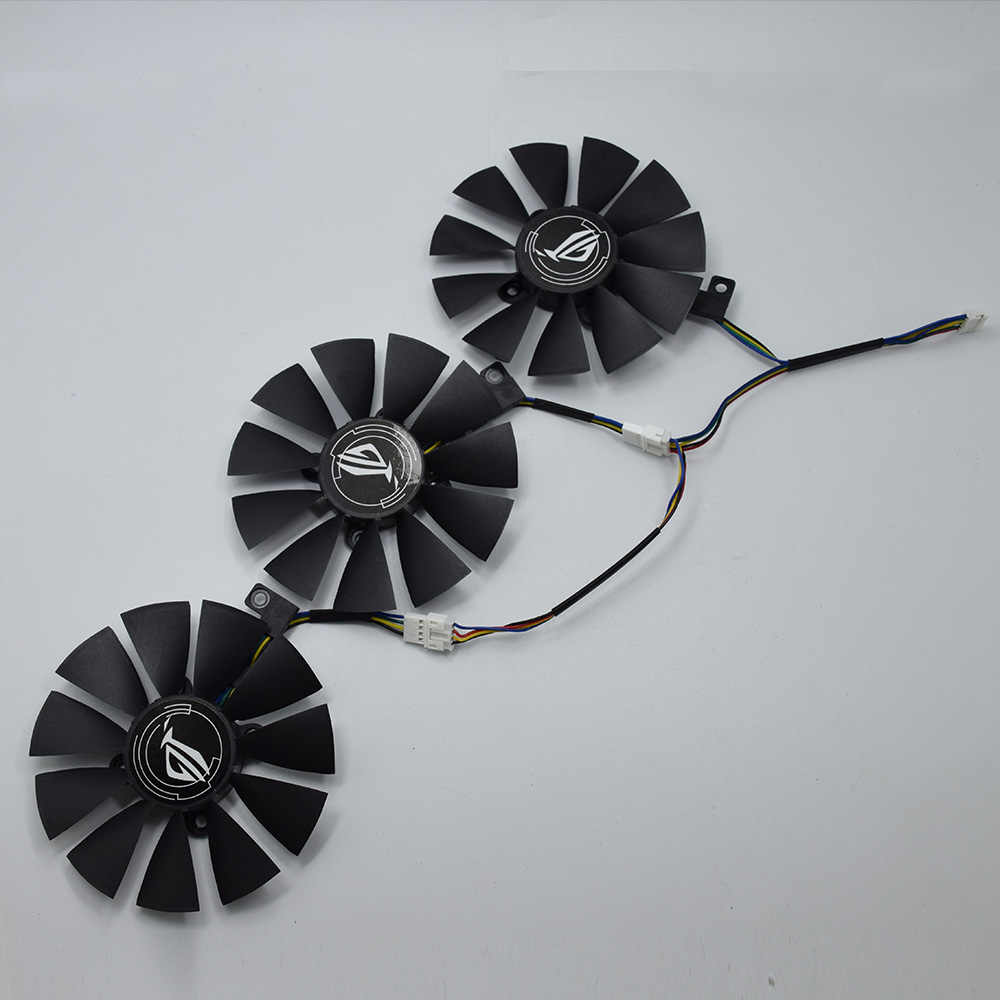 Asus ストリックス GTX 1060 OC 1070 1080 GTX 1080Ti RX 480 T129215SU 87 ミリメートルグラフィックスカードクーラーファン