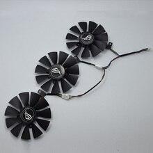 Cooler para placa de vídeo, para ASUS Strix GTX 1060 OC 1070 1080 GTX 1080Ti RX 480 T129215SU 87MM