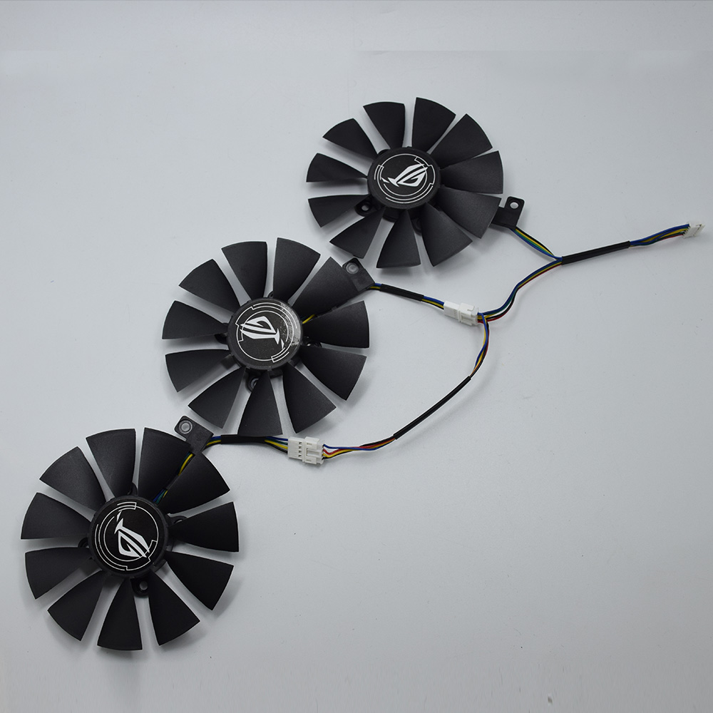 Para asus strix gtx 1060 oc 1070 1080 gtx 1080ti rx 480 t129215su 87mm placa gráfica ventilador mais frio
