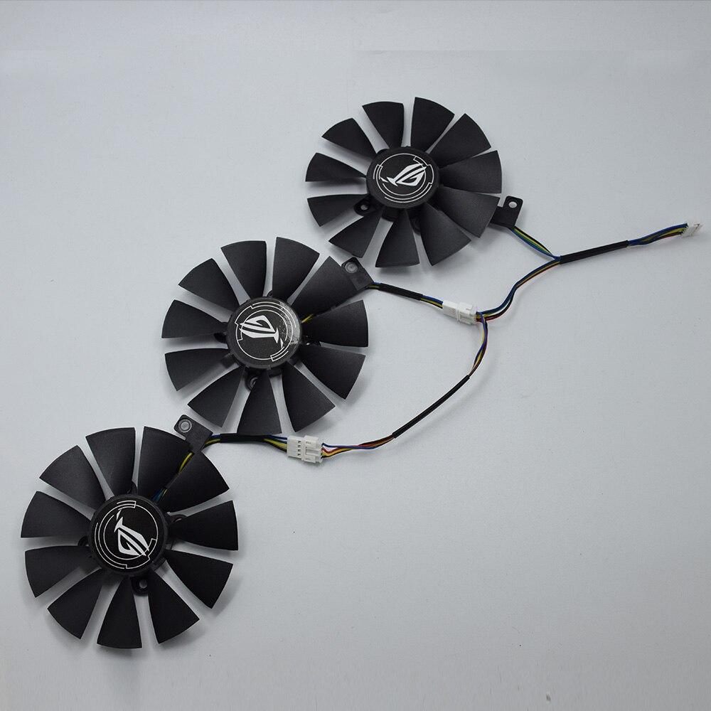 Pour ASUS Strix GTX 1060 OC 1070 1080 GTX 1080Ti RX 480 T129215SU 87MM ventilateur refroidisseur de carte graphique