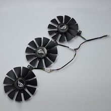 Ventilador refrigerador para tarjeta gráfica ASUS Strix GTX 1060 OC 1070 1080 GTX 1080Ti RX 480 T129215SU 87MM