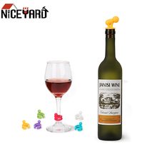 Wine-Bottle-Stopper Silicone Marker Wine-Glass-Label Party-Supplies Drink-Cup Rubber