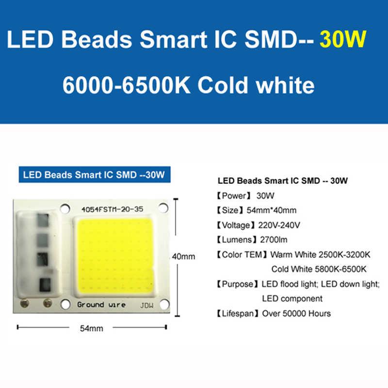 2018 AC 220 В светодиодный чип 20 Вт 30 Вт 50 Вт 100 Вт 150 Вт высокомощный интегрированный COB светодиодный светильник, белый светильник