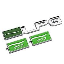 Green Silver Quality Metal Chrome LPG ECO Car Styling Refitting Emblem 3D Sticker Enviromental Protection for Chevrolet Cruze