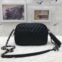 luxury women real leather handbag top quality brand bags designer chain purses Calfskin tassel Messenger bags mini Camera bags