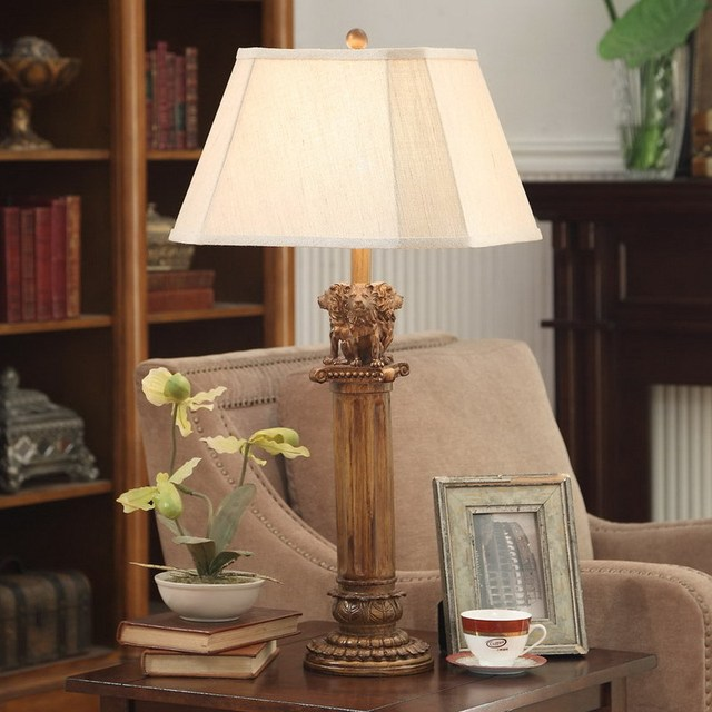 Continental Europe and the luxury high end table lamp carved lion ...