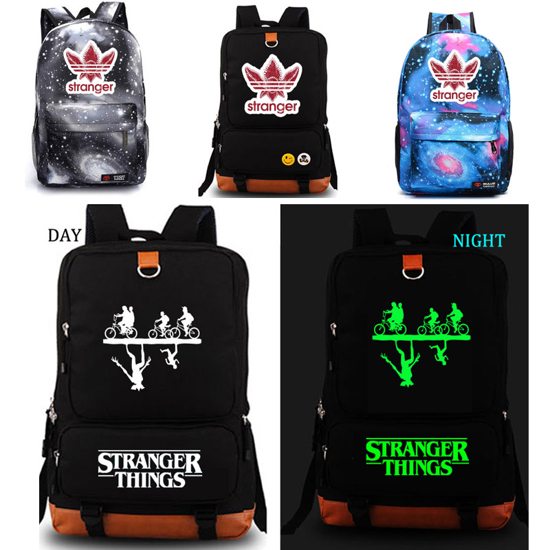 Stranger Things noctilucous backpack student school bag Rucksack Men's women School Bags Pink Black Blue чайник sakura sa 2147p 1 8l steel purple