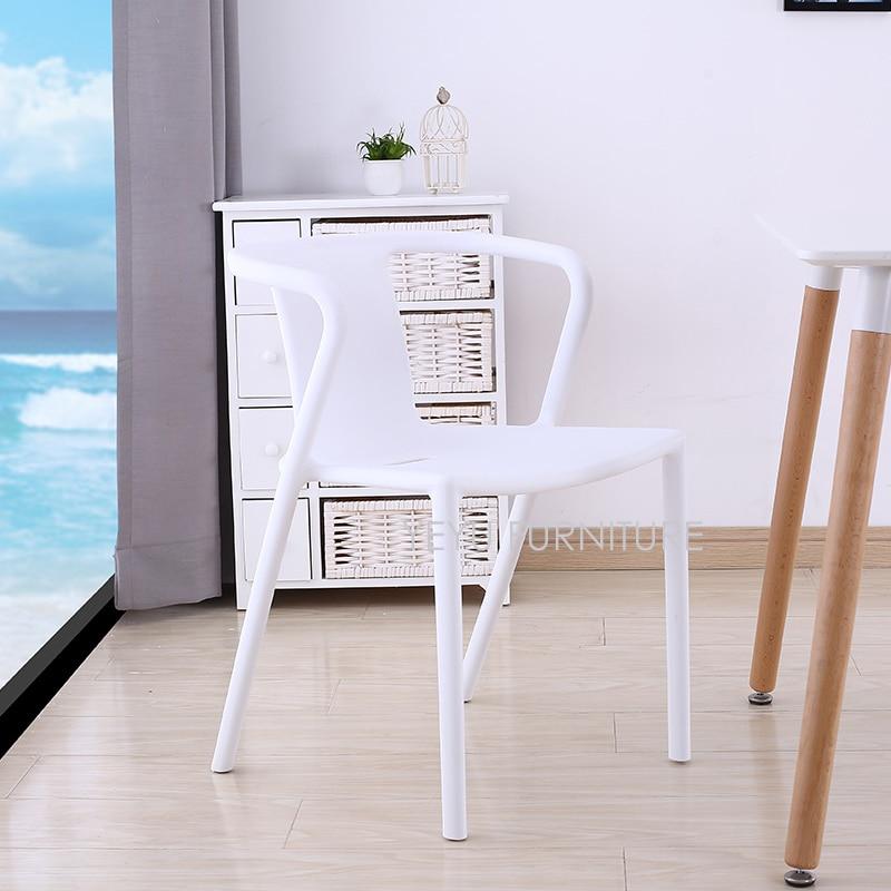 Minimalist Modern Design Plastic Dining Chair Home