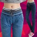 Aliexpress caliente estilo Sexy MS Haroun jeans desgaste del verano para mujer pantalones vaqueros de cintura Elástica pantalones vaqueros de las mujeres CX12