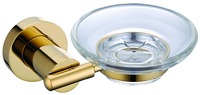 FREE SHIPPING new design gold Round SOAP DISH HOLDER