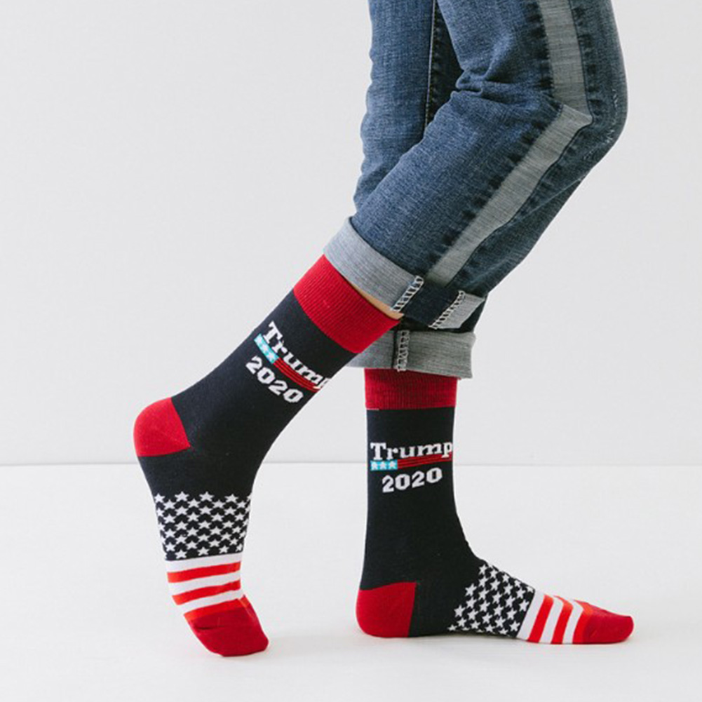 1 Pair/2 Pair/5 Pair/10 Pair Socks Trump 2020 Men Women Chaussette Ankle Cotton America Flag Comfortable Printed Personality