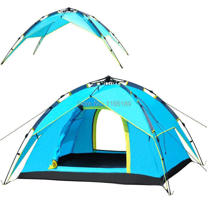 ФОТО Automatic Quick set up Barraca Camping Awning Tent 4 Person Outdoor trekking Beach Camping Instant Pop Up Carpas Gazebo Tente