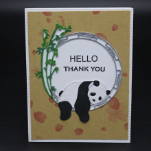 AZSG Cute panda Cutting Mold DIY Scrapbook Album Decoration Supplies Clear Stamp Paper Card