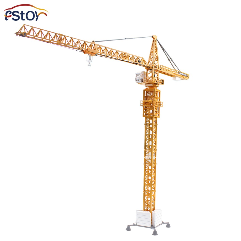 Alloy Diecast tower crane truck Model 1:50 scale enginering vehicle Collection gifts Toy large size alloy die cast model toy tower slewing crane truck vehicle miniature car 1 50 gift for kids