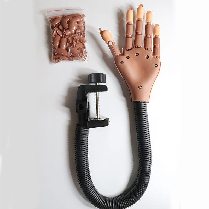 Professionelle 1 Praxis Hand + 100 stücke Nagel Tipps Nagel Kunst Hände Werkzeug Einstellbare Nail art Modell Hände DIY Maniküre werkzeug Für ausbildung