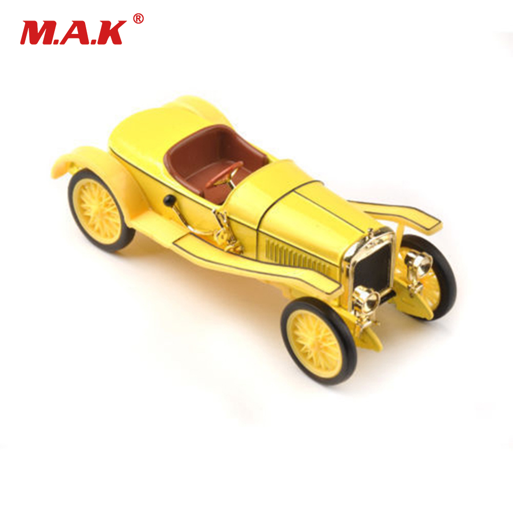 Toys for Children 1:43 Scale Diecast Yellow Hispano Suiza Classic Collectible Car Model Toy Cheap Kids Toys