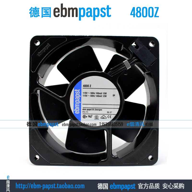 ebm papst 4800Z 4800 Z AC 115V 0.16A 0.14A 13W 12W 120x120x38mm Server Square fan original new ebm papst 4850n 4850 n ac 230v 10w 9w 120x120x38mm server square fan