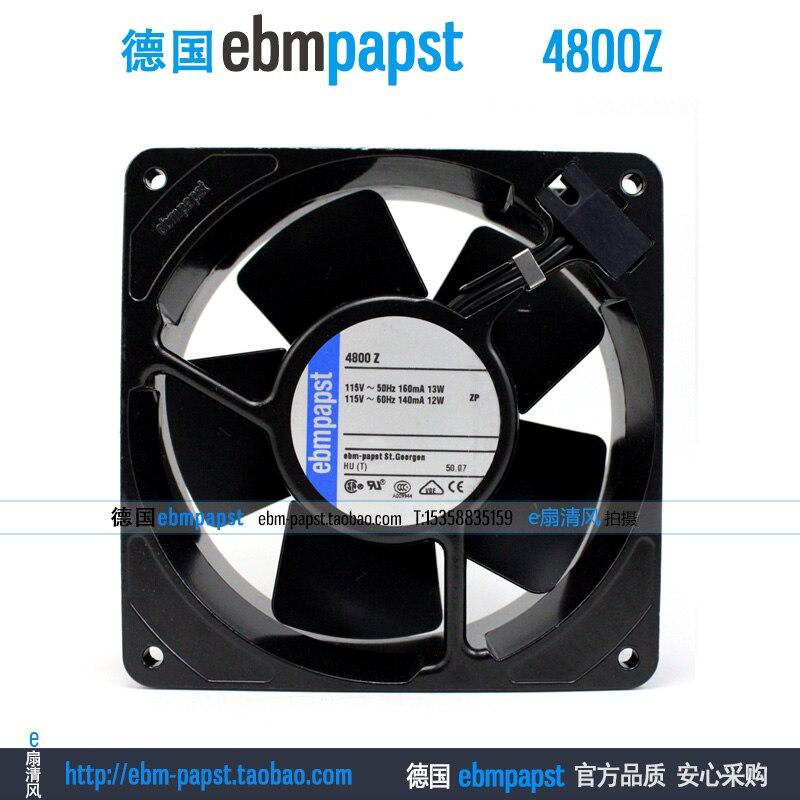 Original new ebm papst 4800Z 4800 Z AC 115V 0.16A 0.14A 13W 12W 120x120x38mm Server Square fan new original ebm papst iq3608 01040a02 iq3608 01040 a02 ac 220v 240v 0 07a 7w 4w 172x172mm motor fan