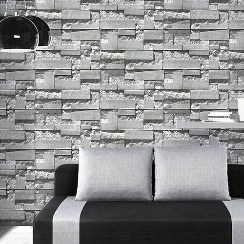 3D Stone Brick Wall Paper Grey Luxury Wallpaper For Living Room TV Background Decor Papel Para Pared 10m Wallpapers 3 In From Home