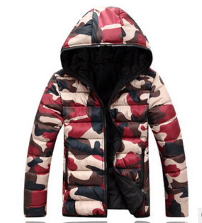 Mens new winter mens cotton padded slim casual men and women couples dress down cotton camouflage coat