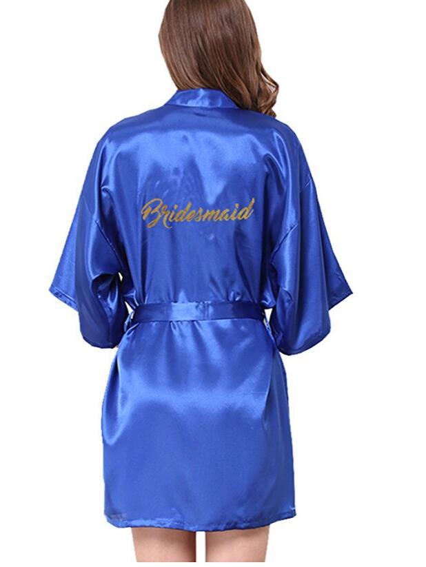 Trajes de dama de noche Robe boda Bridesmaid robes pijama Robe ropa de dormir femenina Albornoz camisón