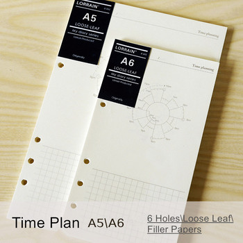 Books loose-leaf refill A5 A6 A7 time planning daily memos diary organizer planner filler papers a5 a6 a7 accountant planner diary insert loose leaf refill schedule organiser 45 sheets note core inner school office supply