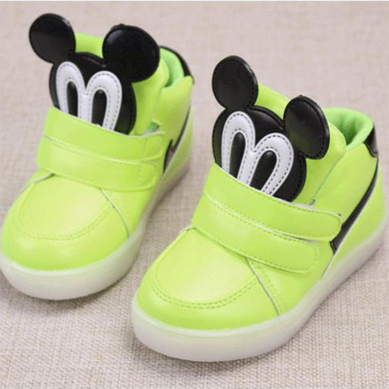 011c16c53c38d children shoes with light kids light up shoes bascket chaussure led enfant  pour fille garcon marque lumineuse sneakers Slippers-in Sneakers from  Mother ...