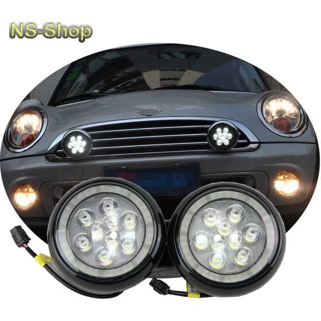 Black Shell Drl Light For Mini Cooper Led Rally Driving Lights White Color Daytime Running Free Shipping