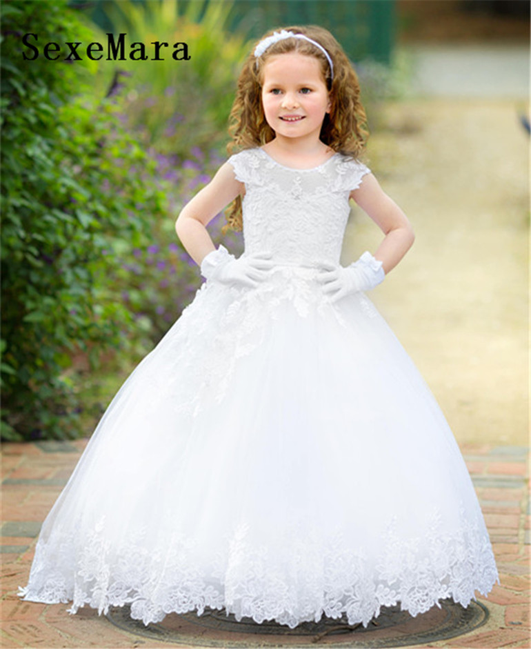 Flower Girls Dresses for Wedding Kids Pageant Dress First Holy Communion Dresses for Little Princess Party Prom Dress princess dress for girls party prom princess pageant dress dress girls