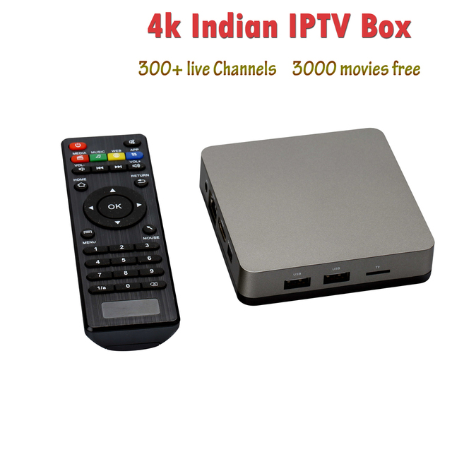 US $144 89 30% OFF 4k HD Indian IPTV Box with 300+ Indian Live TV Channels  Thousands of VOD Movies Smart TV Box Wifi Android TV Box No Monthly Fee-in
