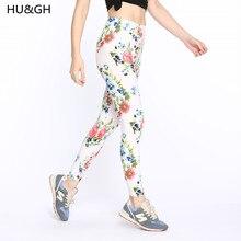 ARDLTME High Quality Print Flower Casual Legging Flowers Leggins Mid Elasticity Material Women Trouser Seamless